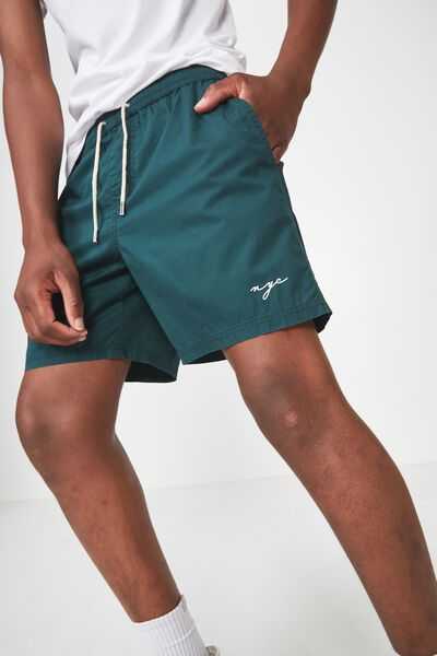 Hoff Short, FOREST GREEN / NYC PRINT