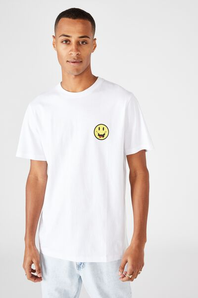 Tbar Art T-Shirt, WHITE/CRAZY SMILE