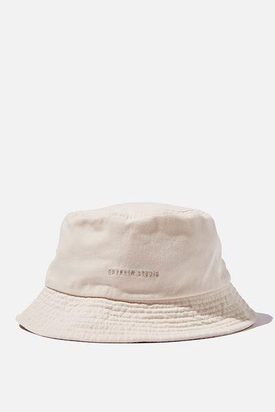 Bucket Hat, ECRU/WEEKEND STUDIO