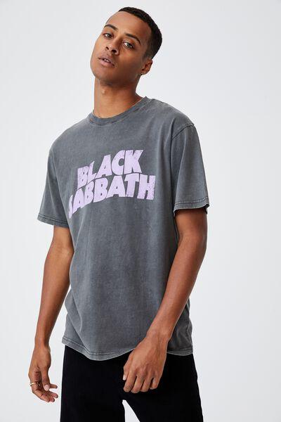 Special Edition T-Shirt, LCN BRA FADED SLATE/BLACK SABBATH-LOGO