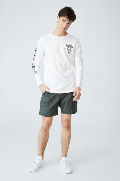 Kakao Long Sleeve T Shirt, LCN KAK VINTAGE WHTIE - APEACH