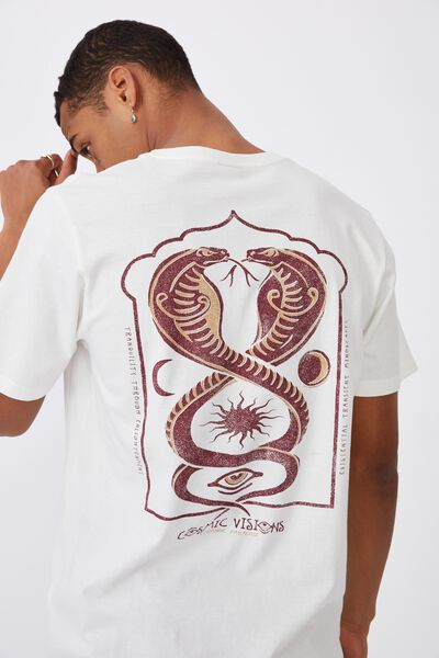 Tbar Art T-Shirt, VINTAGE WHITE/COSMIC VISIONS