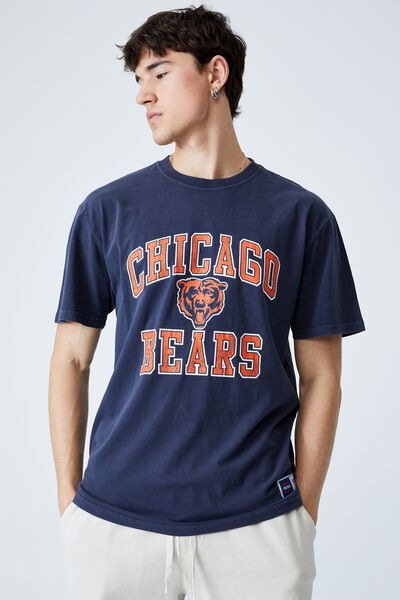 Active Collab Oversized T-Shirt, LCN NFL TRUE NAVY/CHICAGO BEARS