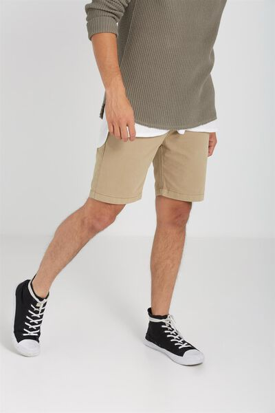 Washed Chino Short, DARK STONE