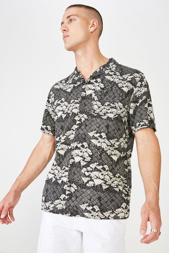 91 Short Sleeve Shirt, WETLAND GEO