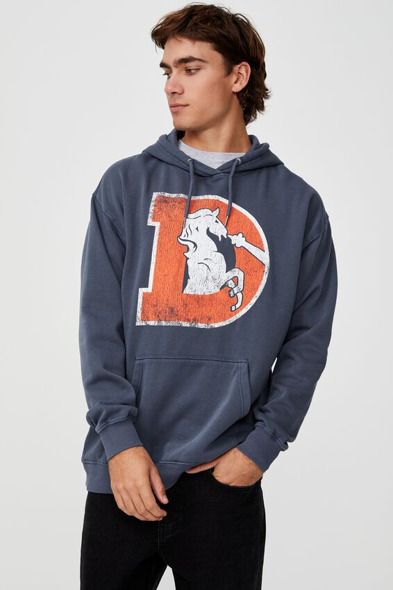 Premium Collab Fleece Pullover, LCN NFL LATE NIGHT BLUE/NFL BRONCOS