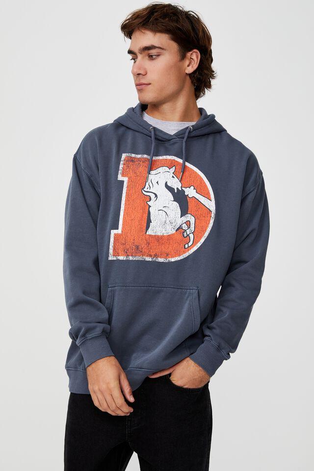 Premium Collab Fleece Pullover, LCN NFL LATE NIGHT BLUE/NFL BRONCOS
