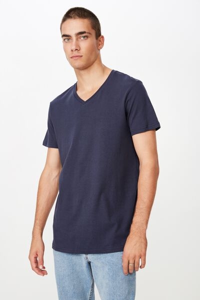 Essential Vee Neck, TRUE NAVY