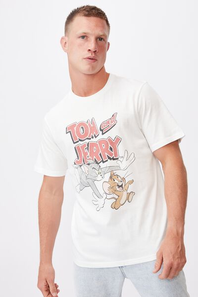 Tbar Collab Character T-Shirt, LCN WB WHITE MARLE/LOONEY TUNES-SQUAD