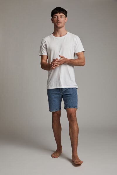 Straight Short, PALM BLUE