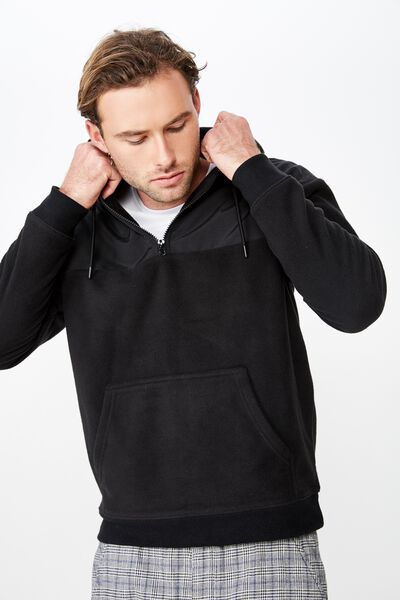 0546a14d2 Drop Shoulder Polar Fleece Hood
