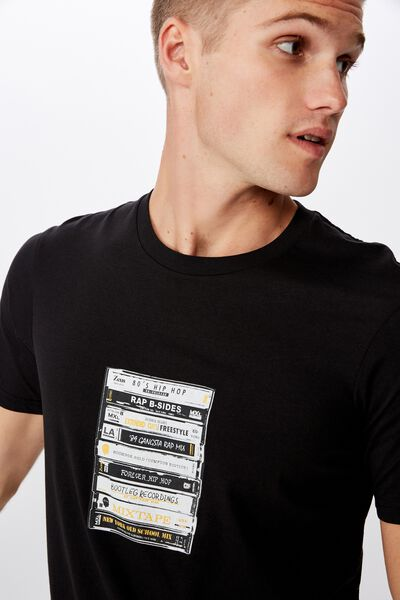 Tbar Art T-Shirt, BLACK/TAPES