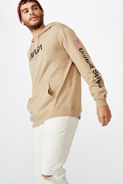 Collab Fleece Pullover, LCN NAS GRAVEL STONE/NATIONAL AERONAUTIC