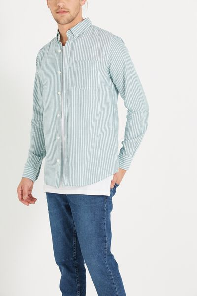 Brunswick Shirt 3, GREEN BOLD STRIPE
