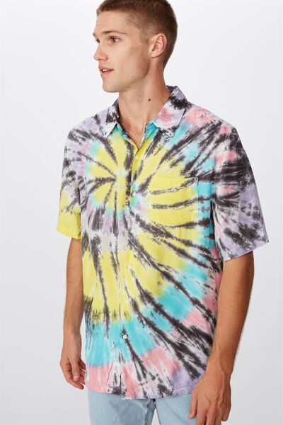 91 Short Sleeve Shirt, MULTI SWIRL TYEDYE