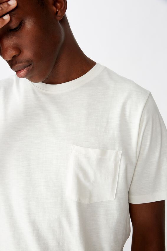 Slub Crew T-Shirt, VINTAGE WHITE