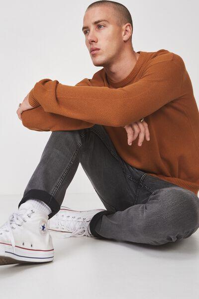 Lightweight Crew Sweater, MUSTARD