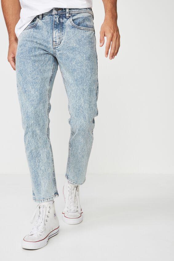 Slim Fit Jean, BLUE FADE CROP