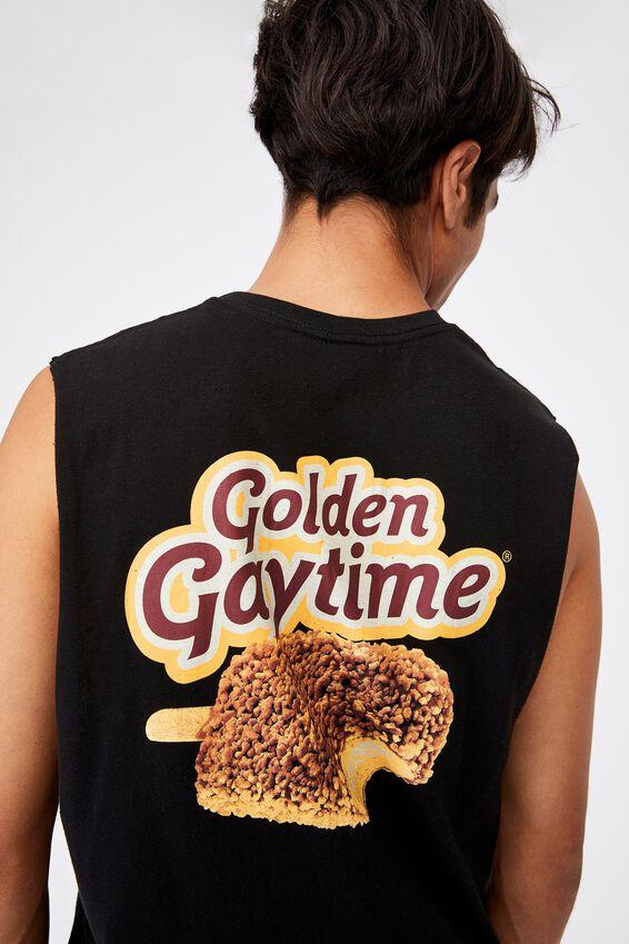 Tbar Collab Muscle, LCN STR BLACK/STREETS-GOLDEN GAYTIME