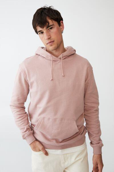 Essential Fleece Pullover, PLUM