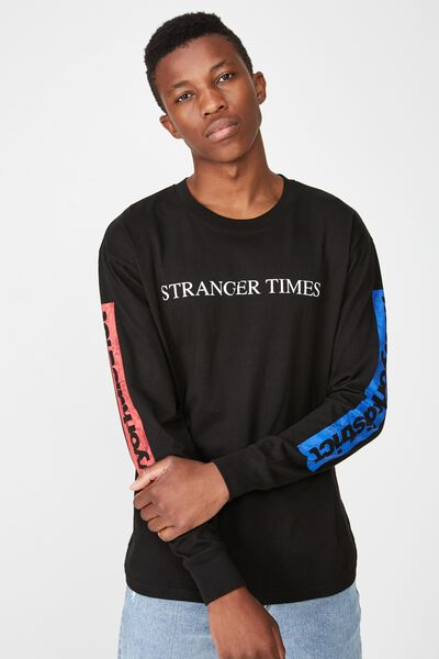 435165c900bba3 Tbar Long Sleeve, BLACK/STRANGER TIMES DISTRICT