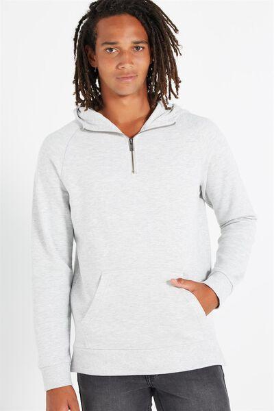 Fleece Pullover 2, LIGHT GREY MARLE