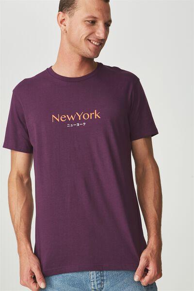 Tbar Tee 2, PLUM PURPLE/NEW YORK TRANSLATE