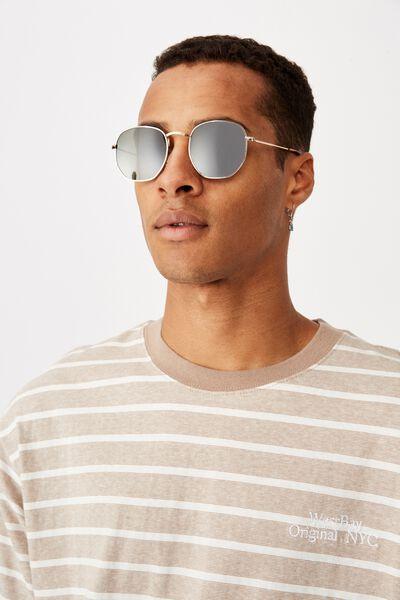 Apollo Sunglasses, GOLD/TORT/GREEN