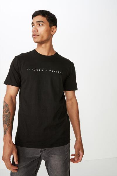 Tbar Urban T-Shirt, BLACK/CLIQUES & TRIBES