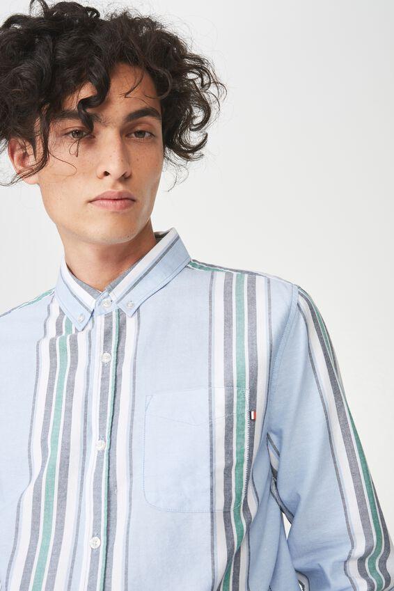 Brunswick Shirt 3, SKY BOLD STRIPE