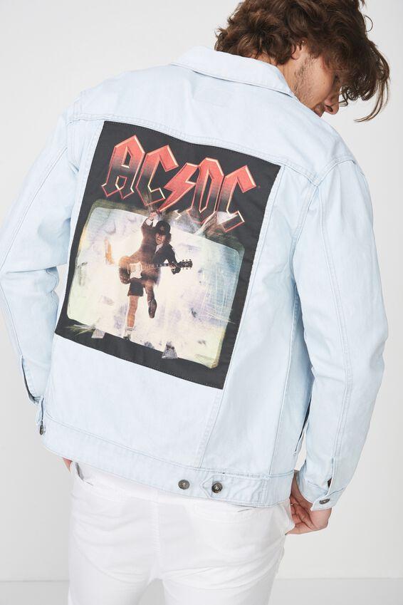 AC/DC Denim Jacket, ACDC/BLEACH
