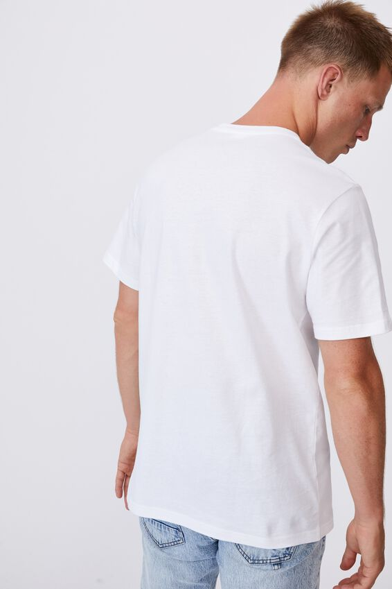 Tbar Collab Pop Culture T-Shirt, LCN NASWHITE/NASA-LOGO EMBROIDERY