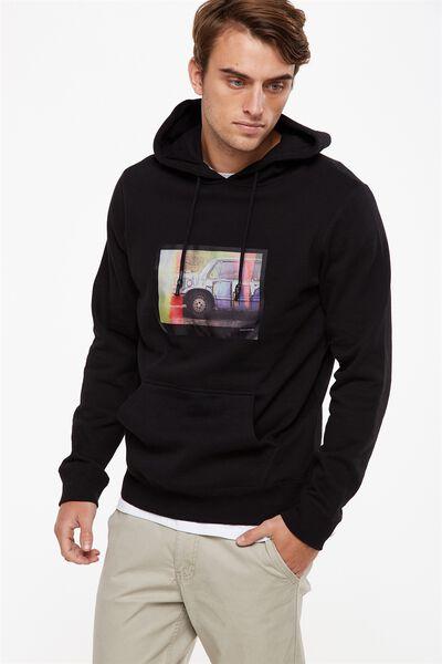 Fleece Pullover 2, BLACK/DARKER REALMS