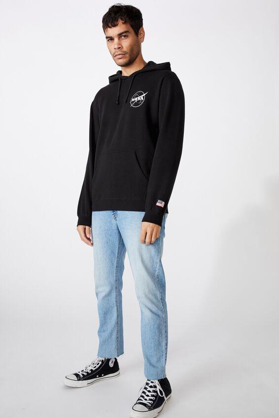 Collab Fleece Pullover, LCN NAS BLACK/INSIGNIA