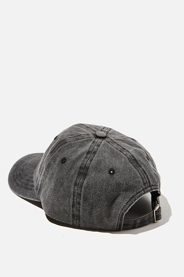 License Vintage Strap Back Cap, LCN YALE/BLACK