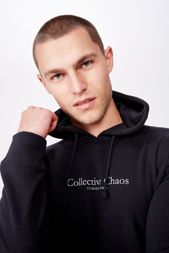 Fleece Pullover 2, WASHED BLACK/COLLECTIVE CHAOS