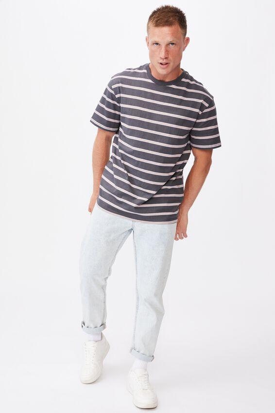 Dylan T-Shirt, FADED SLATE POP STRIPE