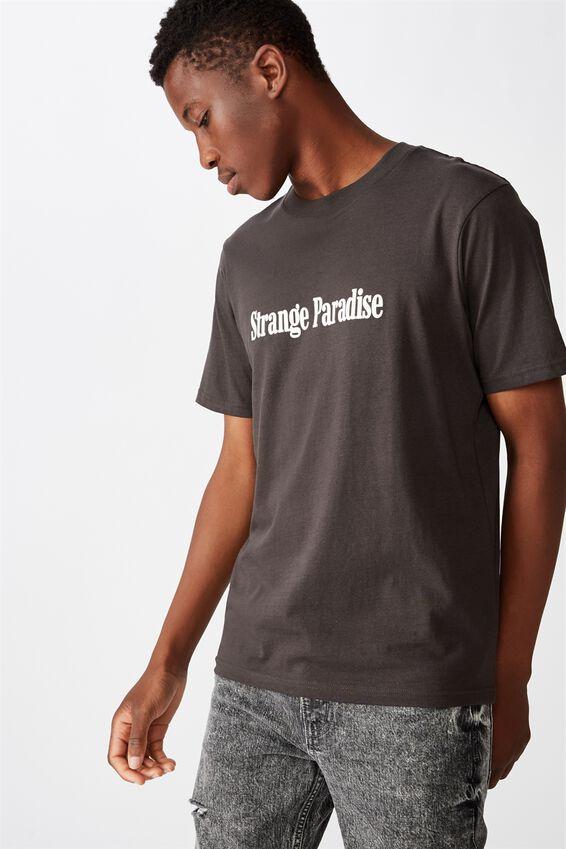 Tbar Text T-Shirt, SK8 WASHED BLACK/STRANGE PARADISE