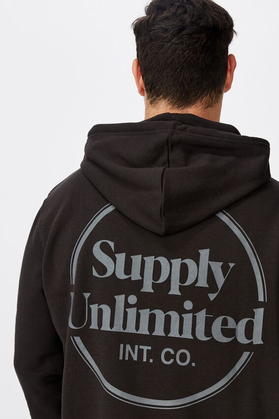 Bg Fleece Pullover 2, BLACK/SUPPLY UNLIMITED
