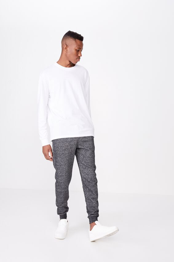 Trippy Slim Trackie, BLACK/TEXTURE