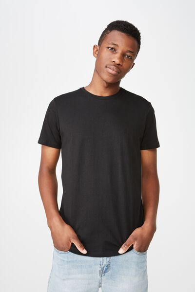 Essential Crew Tee, BLACK