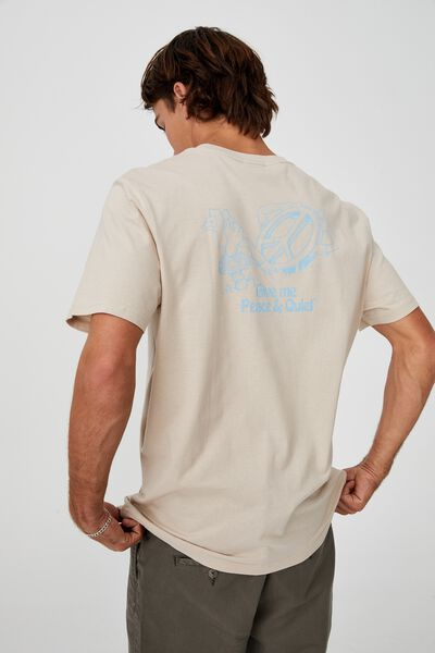 Tbar Art T-Shirt, IVORY/PEACE AND QUIET