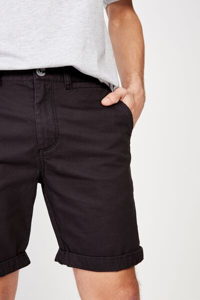 Washed Chino Short, PIGMENT BLACK
