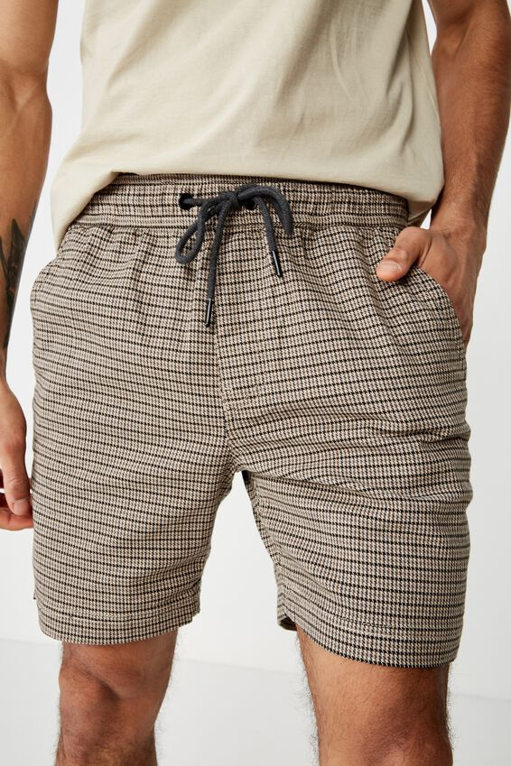 Street Volley Short, TONAL HOUNDSTOOTH CHECK