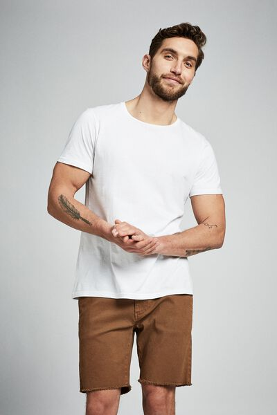 Raw Hem Chino, WASHED TOBACCO