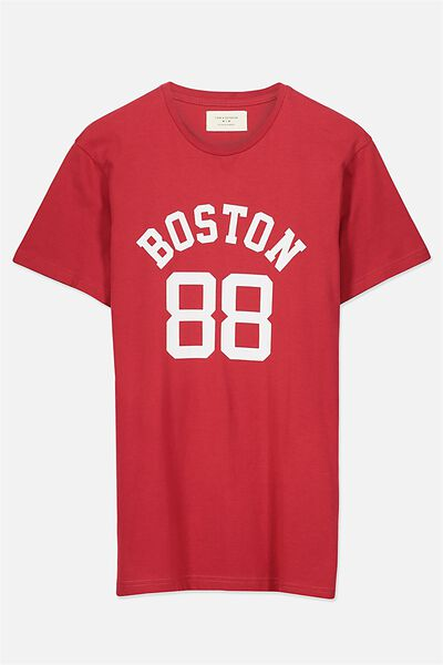 Tbar Tee, RACE RED/BOSTON 88