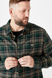 Bg Rugged Long Sleeve Shirt, KHAKI BLACK CHECK