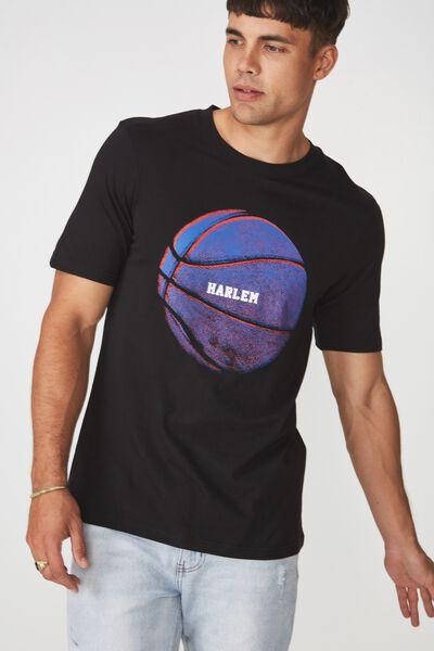 Tbar Tee 2, BLACK/HARLEM BALL