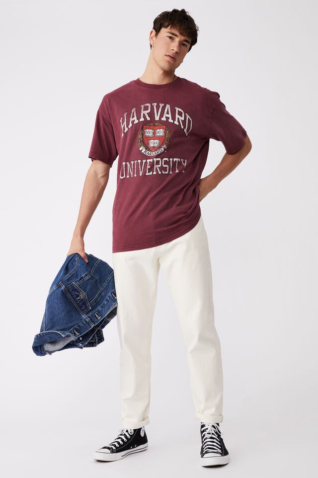 Special Edition T-Shirt, LCN HAR BURGUNDY/HARVARD - VINTAGE CREST
