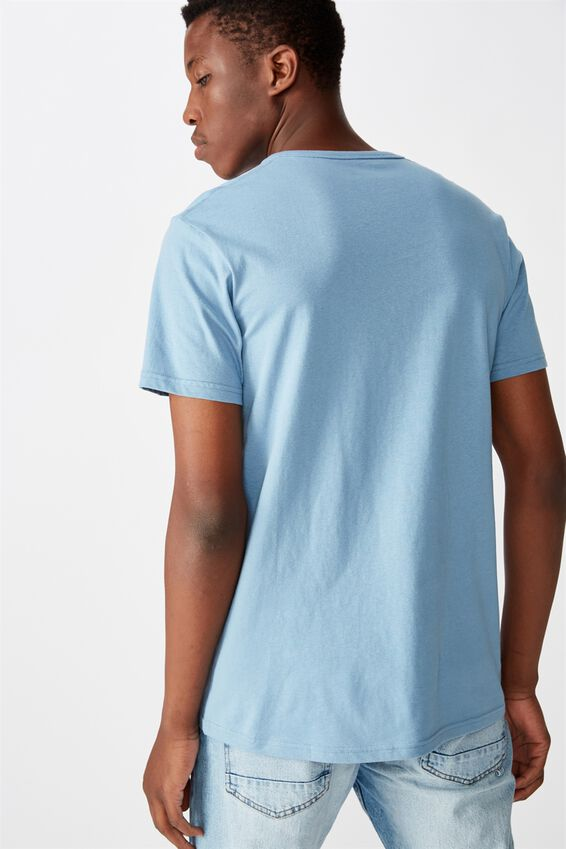 Essential Henley T-Shirt, CHALK BLUE